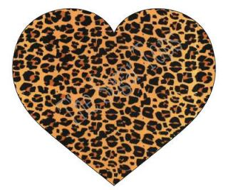 Animal Print LEOPARD DESIGN Hearts CARD TOPPERS DIE CUT Decorations