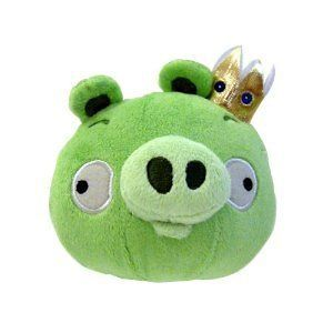 Angry Birds Plush 8 Inch King Pig with Sound