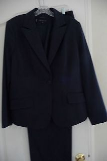 Womens Suit Anne Klein Navy Blue Size 14W
