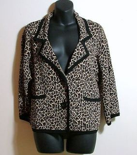Womens Cardigan Sweater Jacket Blazer By ANNE KLEIN Size M (Medium)
