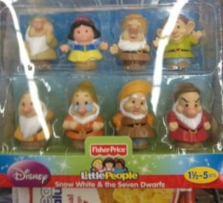 Fisher Price Little People Snow White & Seven Dwarfs Disney Playset