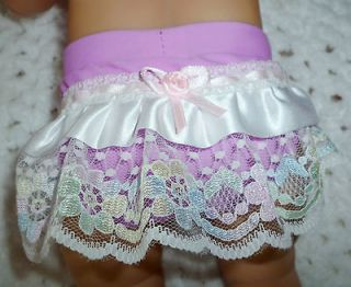 CLOTHES TO FIT BABY BORN DOLLS   1 PR. FRILLY LYCRA BRIEFS orchid