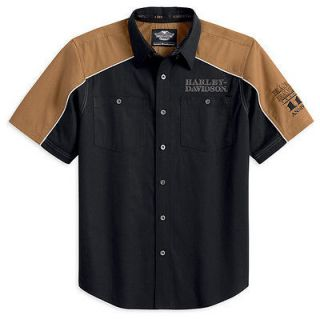 Harley Davidson 110th Anniversary Short Sleeve Button Up Shirt Limited