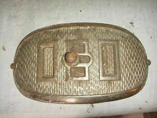 Antique Cast Iron Parlor Stove Nickle Plated #74A Small door NICE