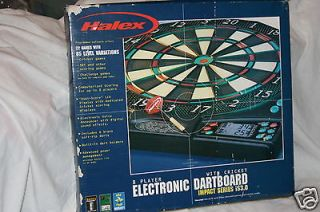 Halex Electronic Dart Board 8 Player with Cricket Impact Series iS3.0