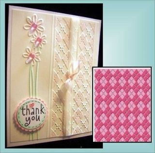 Argyle Embossing Folder by Cuttlebug