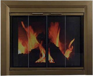 Pleasant Hearth Fireplace Door Carrington Ant Brass L