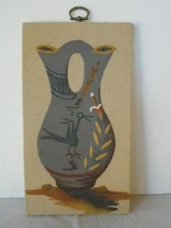 NATIVE AMER, NAVAJO, SAND ART PAINTING, WEDDING VASE; WILSON PRICE, SR
