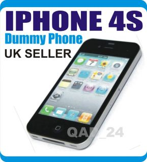APPLE IPHONE 4S 4G BLACK DUMMY TOY DISPLAY NOT WORKING MOBILE PHONE