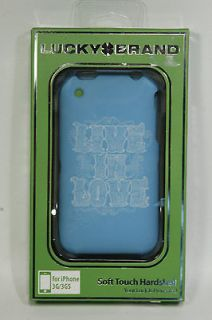 Lucky Brand Live in Love Silicone iPhone Case in Aqua New in Box