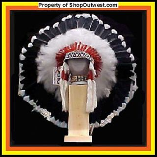 Native American Navajo 36 War Bonnet Headdress SHADOW Black