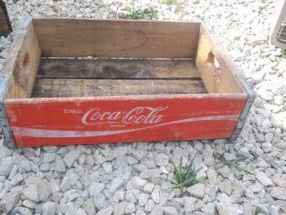 Vintage Coca Cola Red Wood Box good decor