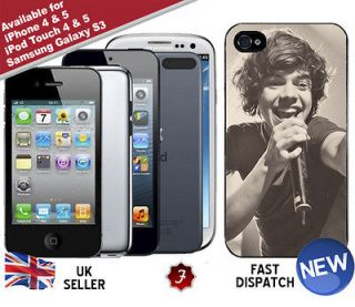 Direction Harry Styles Singing iPhone iPod Touch 4 5 Phone Cover Case