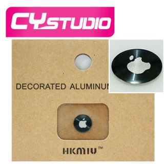 HOME Button Sticker Apple Logo for iPhone 5 4G 4S 3GS iPod Black