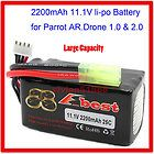 Parrot AR Drone 1.0 & 2.0 Lipo Battery (Super Large Capacity 2200mAh