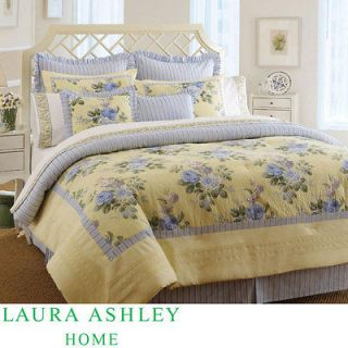 Laura Ashley Caroline King size Comforter Set W/Bedskirt