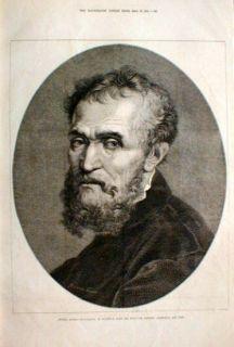 1875 Michel Angelo Buonarotti Florence Born 1475 Poet