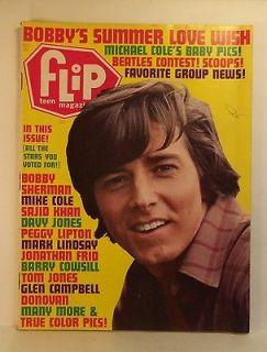 Aug 1969 FLIP Teen Magazine BOBBY SHERMAN Jonathan Frid DONOVAN Peggy