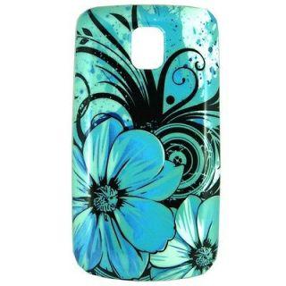 One printed Aqua Blue designer Hard shell cell phone cover case