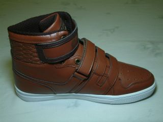 Coogi D Line III Mens High Top BROWN/DARK BROWN Sneaker   NEW