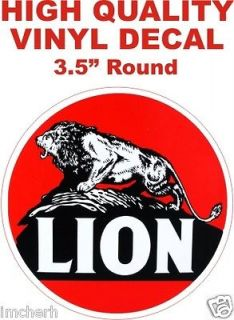 Vintage Style Lion Gasoline Fuel Motor Oil Gas Pump Decal   The Best