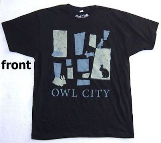 OWL CITY BUNNIES RABBITS BLK T SHIRT L NEW LICENSED