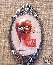 VERY RARE COKE COCA COLA SPOON SPRITE BOY SILVER PLATED
