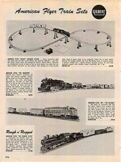 1962 63 AD Gilbert American Flyer Train Set The Champion Deluxe