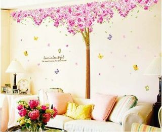 BIG Cherry Blossom Tree Wall Decals Vinyl Wall Art Stickers DIY Decor