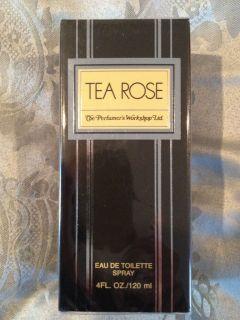 TEA ROSE By the Perfumers Workshop Eau De toilette Spray 4oz 120ml