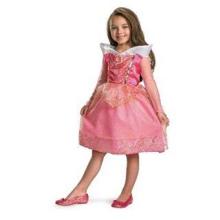 AURORA Sleeping Beauty Disney Princess Sparkle Child Costume 4 6