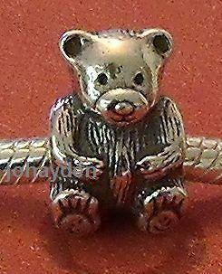 Authentic PANDORA Teddy Bear Bead Charm 925 Silver d