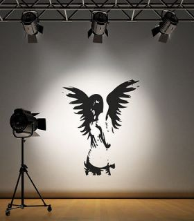 GUARDIAN ANGEL WINGS WALL STICKER DECAL MURAL GRAPHIC DECORATING