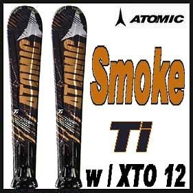 11 12 Atomic Smoke Ti Skis 164cm w/XTO 12 NEW !