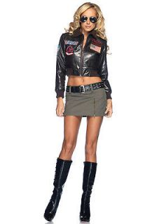 Leg Avenue TG83701 Top Gun Bombshell Bomber Jacket Set