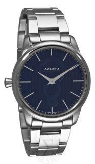 Azzaro Mens Legend Stainless Steel Black Dial Watch AZ2060.12BM.000