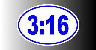 John 316 Christian Bumper Sticker Decal