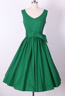 Green Dress on 50s Audrey Hepburn Style Little Green Dress Size M Pinup Vintage