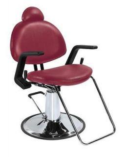 New BestSalon Burgundy All Purpose Hydraulic Recline Barber Chair