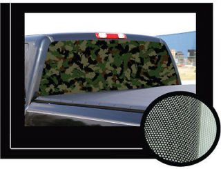 CAMOUFLAGE 2265 Rear Window Graphic camo decal truck view car vinyl