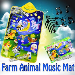 Music Touch Play Mat Animial Singing Baby Gym Carpet PlayMat Kids Toy