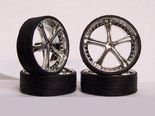 24 1/25 MONSTER 24s Wheels Rims & Tires BELAGGIO Model Car Kit