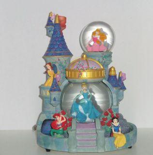 Cinderella Belle Ariel Snow White Aurora Princess Snowglobe Musical