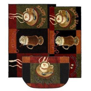 Mohawk Select New Wave Kitchen Caffe Latte Novelty Rug (Set of 3)