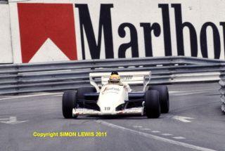 AYRTON SENNA Toleman TG184 HartTurbo. Monaco GP 1984(c)