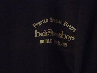 Backstreet Boys Tour 05 Band & Crew Only Long Sleeved T Shirt XL Rare