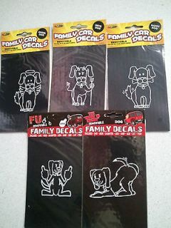 Choice of DOG Family Car / Window / Locker Cling Decals Angel Devil