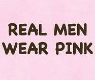REAL MEN WEAR PINK T SHIRT FUNNY HUMOR TEE PINK XL