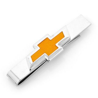 Chevy Orange Bowtie Logo Automotive Tie Bar NIB