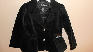 Baby Phat Girls Pea Coat / Jacket Black 4T